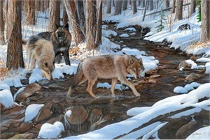 "Kevin Daniel Hand Signed and Numbered Limited Edition Giclee: ""Winters Crossing """