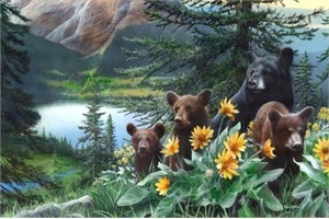 "Kevin Daniel Hand Signed and Numbered Limited Edition Giclee: ""Basking in the Balsamroot"""