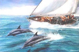 "Kevin Daniel Hand Signed and Numbered Limited Edition Giclee: ""Sailing The Wind"""