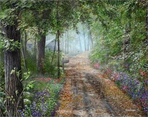 "Kevin Daniel Hand Signed and Numbered Limited Edition Giclee: ""The Country Road """