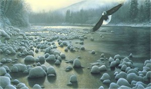 """Kevin Daniel Hand Signed and Numbered Limited Edition Giclee: """"On Eagles Wings"""""""
