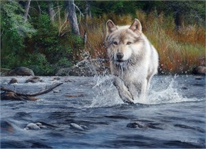 "Kevin Daniel Hand Signed and Numbered Limited Edition Giclee: ""The Crossing"""