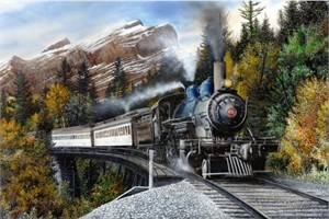 """Kevin Daniel Hand Signed and Numbered Limited Edition Giclee: """"Autumn Express"""""""