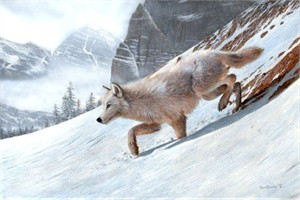 """Kevin Daniel Hand Signed and Numbered Limited Edition Giclee: """"Wolf Ridge"""""""
