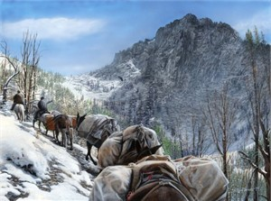 "Kevin Daniel Hand Signed and Numbered Limited Edition Giclee: ""Big Horn pass"""