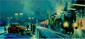 """Robert Bailey Hand Signed and Numbered Limited Edition: """"Misty Departure"""""""