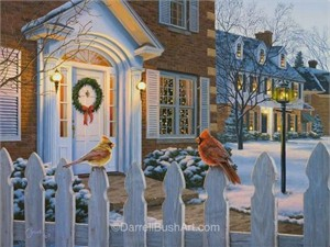 "Darrell Bush Hand Signed and Numbered Limited Edition Giclee:""Winter Song"""
