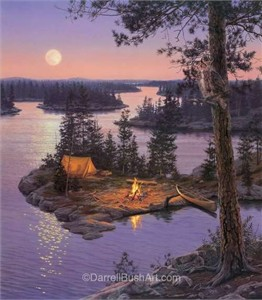 """Darrell Bush Hand Signed and Numbered Limited Edition Giclee:""""Moondance"""""""