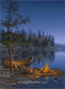 """Darrell Bush Hand Signed and Numbered Limited Edition Giclee:""""Under the Stars"""""""