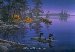 "Darrell Bush Hand Signed and Numbered Limited Edition Giclee:""A World Away"""