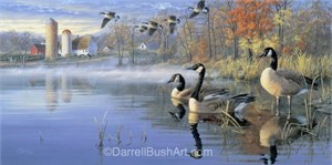 "Darrell Bush Hand Signed and Numbered Limited Edition Giclee:""In from the Fields"""