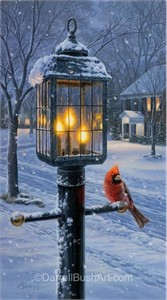 """Darrell Bush Hand Signed and Numbered Limited Edition Giclee:""""Warmth of Winter I"""""""