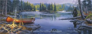 """Darrell Bush Hand Signed and Numbered Limited Edition Giclee:""""Too Close for Comfort"""""""