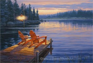 """Darrell Bush Hand Signed and Numbered Limited Edition Giclee:""""Evening Glow"""""""