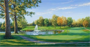 """Darrell Bush Hand Signed and Numbered Limited Edition Giclee:""""Par for the Course"""""""