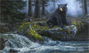"""Darrell Bush Hand Signed and Numbered Limited Edition Giclee:""""The Fishing Hole"""""""