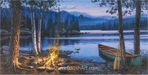 "Darrell Bush Hand Signed and Numbered Limited Edition Giclee:""Beside Still Waters"""