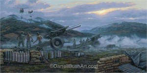 "Darrell Bush Hand Signed and Numbered Limited Edition Giclee:""Wakeup Call"""