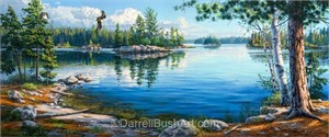 "Darrell Bush Hand Signed and Numbered Limited Edition Giclee:""Sky Blue Waters"""