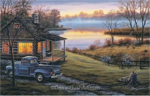 "Darrell Bush Hand Signed and Numbered Limited Edition Giclee:""Early to Rise"""