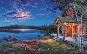 "Darrell Bush Hand Signed and Numbered Limited Edition Giclee:""The Perfect Getaway"""
