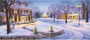 "Darrell Bush Hand Signed and Numbered Limited Edition Giclee:""Home for the Holidays"""