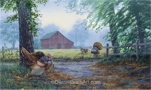 "Darrell Bush Hand Signed and Numbered Limited Edition Giclee:""Crossing Paths"""