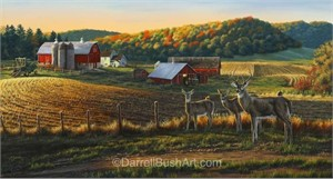 "Darrell Bush Hand Signed and Numbered Limited Edition Giclee:""Harvest Time"""