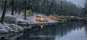 """Darrell Bush Hand Signed and Numbered Limited Edition Giclee:""""Back in the Pines"""""""