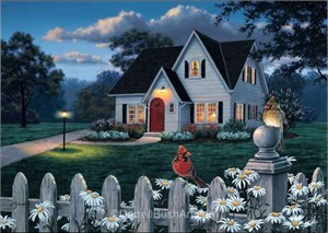 "Darrell Bush Hand Signed and Numbered Limited Edition Giclee:""The Houseguests"""