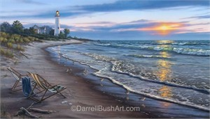 "Darrell Bush Hand Signed and Numbered Limited Edition Giclee:""End of a Perfect Day"""