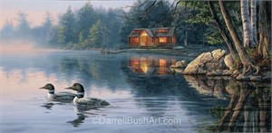 "Darrell Bush Hand Signed and Numbered Limited Edition Giclee:""Echo Bay"""