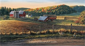 "Darrell Bush Hand Signed and Numbered Limited Edition Giclee:""Autumn Harvest"""