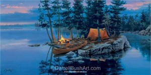 "Darrell Bush Hand Signed and Numbered Limited Edition Giclee Canvas:""Rock Island"""