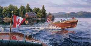 "Darrell Bush Hand Signed and Numbered Limited Edition Giclee:""In the Wake of a Legend 