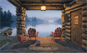 """Darrell Bush Hand Signed and Numbered Limited Edition Giclee:""""6AM Opening Day"""""""