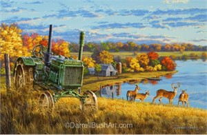 """Darrell Bush Hand Signed and Numbered Limited Edition Giclee:""""Deer Ridge"""""""