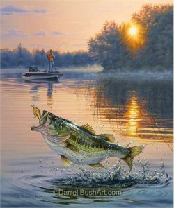 """Darrell Bush Hand Signed and Numbered Limited Edition Giclee:""""Early Catch"""""""