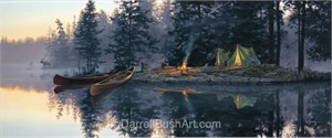 "Darrell Bush Hand Signed and Numbered Limited Edition Giclee:""Whispering Pines"""
