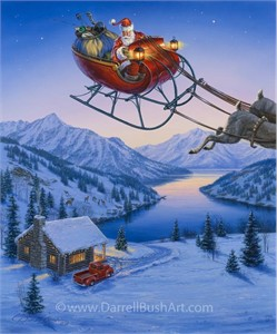 """Darrell Bush Hand Signed and Numbered Limited Edition Giclee:""""Special Delivery"""""""
