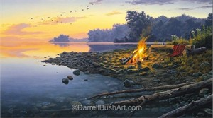 "Darrell Bush Hand Signed and Numbered Limited Edition Giclee:""Fireside Point"""
