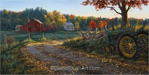 "Darrell Bush Hand Signed and Numbered Limited Edition Giclee:""Morning Run"""