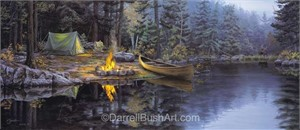 "Darrell Bush Hand Signed and Numbered Limited Edition Giclee:""A Place in the Pines"""
