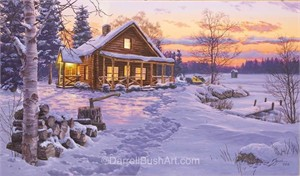 """Darrell Bush Hand Signed and Numbered Limited Edition Giclee:""""Trails End"""""""