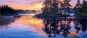 """Darrell Bush Hand Signed and Numbered Limited Edition Giclee:""""Lure of the Wilderness"""""""