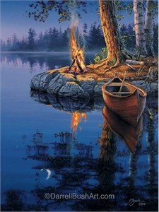 "Darrell Bush Hand Signed and Numbered Limited Edition Giclee:""Time to Reflect"""
