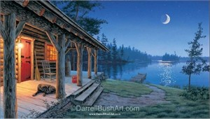 """Darrell Bush Hand Signed and Numbered Limited Edition Giclee:""""Simple Pleasures"""""""