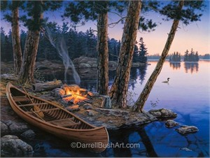 """Darrell Bush Hand Signed and Numbered Limited Edition Giclee:""""Summer's Song"""""""