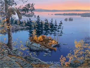 """Darrell Bush Hand Signed and Numbered Limited Edition Giclee:""""Autumn's Call"""""""