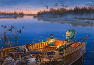 "Darrell Bush Hand Signed and Numbered Limited Edition Giclee:""Early Morning Traditions"""